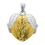Engelsrufer Herz Medaillion mit Flügel 925er Silber und Gold