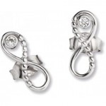 Infinity Ohrringe Ohrstecker mit Unendlichkeits Zeichen