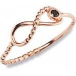 Infinity Ring aus Silber 925 rosevergoldet von CAI